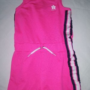Girls Limited too skinny strap Romper hot pink 2T